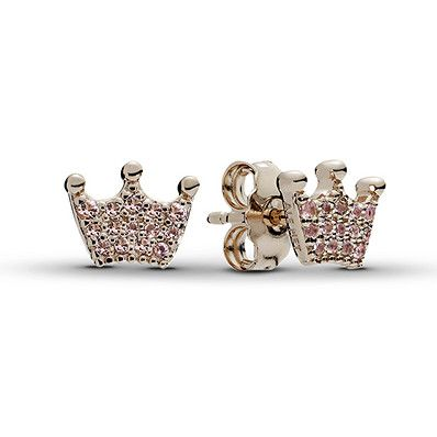 pandora crown earrings