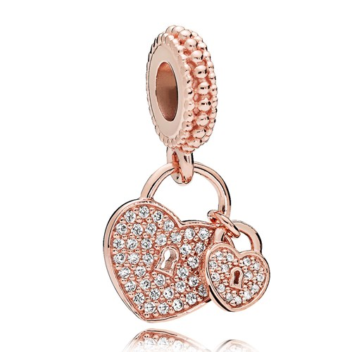 rose gold pandora charms